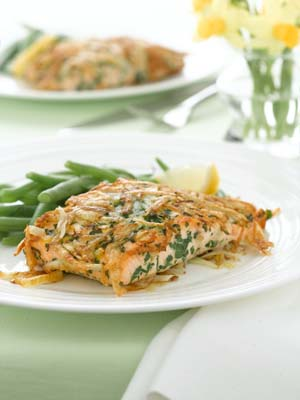 Potato Crusted Salmon Fillets