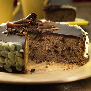 Chocolate Almond Cake with Chocolate Icing